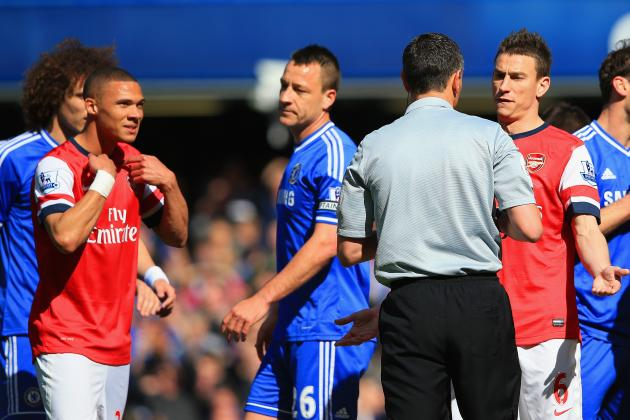 Andre Marriner Savaged on Twitter After Red Card for Wrong Man Kieran Gibbs