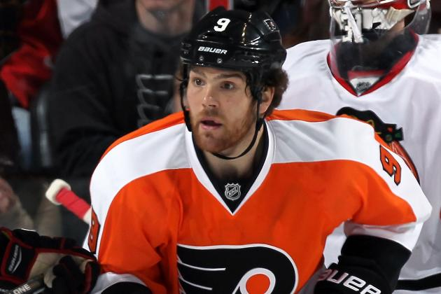 Steve Downie Leaves vs. Blues with Upper-Body Injury