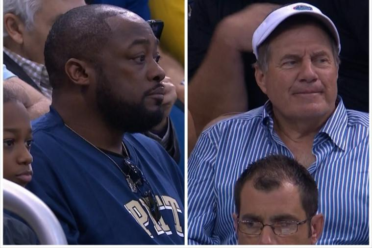 NFL Coaches Bill Belichick and Mike Tomlin Attend Florida-Pitt NCAA Tourney Game