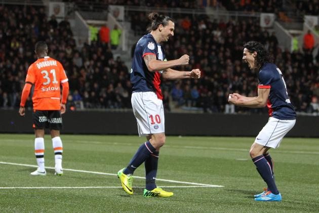 Ibrahimovic and Cavani Watch: Zlatan Magic Enough for PSG in Lorient