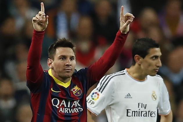 GIF: Lionel Messi Completes First Barcelona Hat-Trick at Bernabeu in El Clasico
