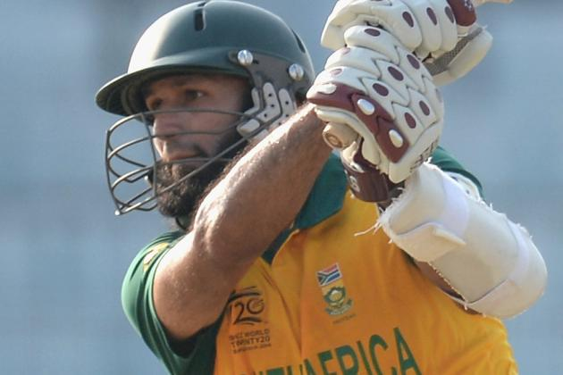 GIF: Hashim Amla's Freak Dismissal Via JP Duminy's Bat at World T20