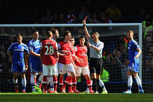 Arsenal Win Appeals for Red Card from Match vs. Chelsea