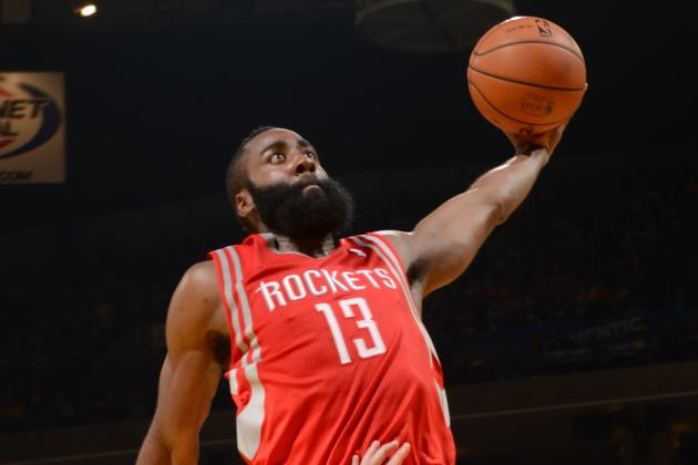 James Harden Throws Down Emphatic Jam on Josh McRoberts