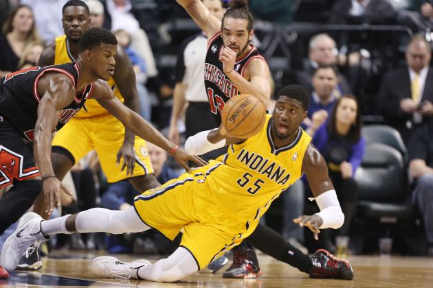 Pacers' Hibbert Responds to Gibson's 'Floppers' Comment