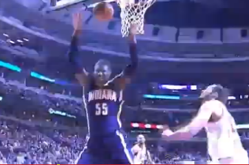 Roy Hibbert Submits Flop of the Year Entry vs. Joakim Noah
