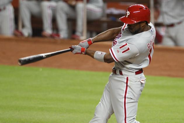 Phillies' Jimmy Rollins One Home Run Shy of 200 for Career