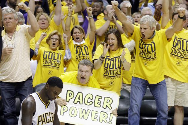 Indiana Pacers Deck out Arena with 'Beat the Heat' Signage