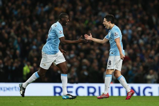 Yaya Toure and Samir Nasri Taunt Manchester United After Derby Win