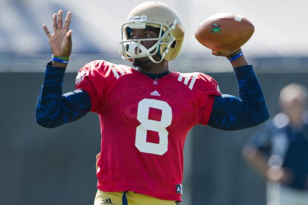 Zaire's Fire Helps Brighten Notre Dame's Quarterback Picture