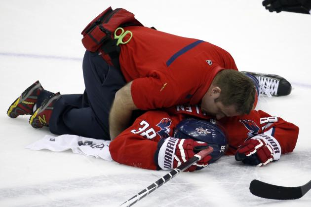 Alexander Ovechkin Suffers Scary Collision with Teammate Jack Hillen