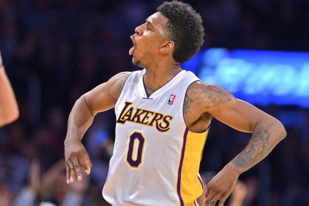Nick Young Celebrates 3-Point Shot That Doesn't Go in the Basket