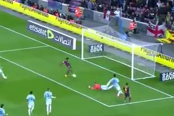 GIF: Neymar Finishes Excellent Team Buildup for Barcelona vs. Celta Vigo