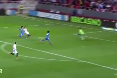 GIF: Carlos Bacca's Winner for Sevilla Set Up by Ivan Rakitic's Amazing Skill