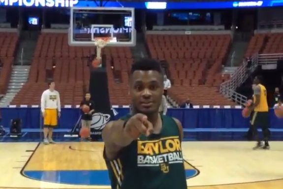 Instagram: Baylor's Franklin Nails Halfcourt Shot in Style