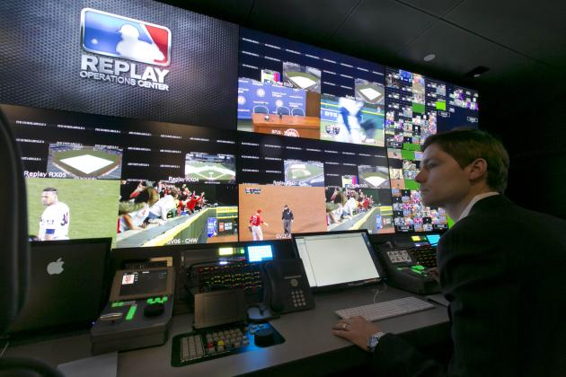 MLB's Instant-Replay Office Is Gorgeous Display of HD Monitors and Promise