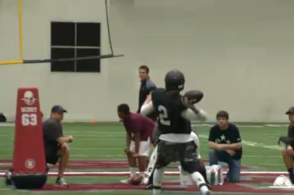 Johnny Manziel Ends Pro Day Workout with Huge Bomb to Mike Evans, Shouts 'Boom!'