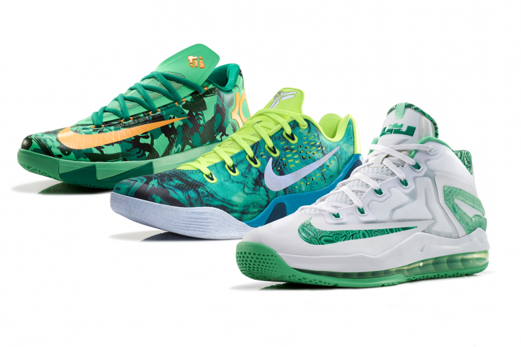 Nike Releases 'Easter' Version of Signature Kicks for LeBron, Kobe and Durant