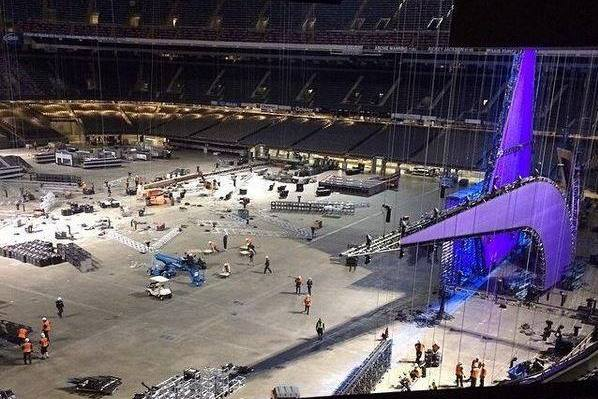 1st Look at WrestleMania 30 Stage Setup