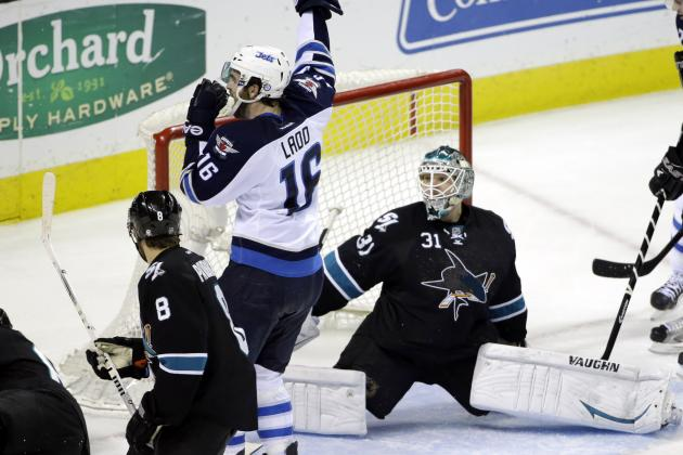 Jets Top Sharks on Enstrom's Late Power-Play Goal