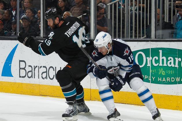 Sharks' Joe Thornton Plays in His 1,200th Career NHL Game