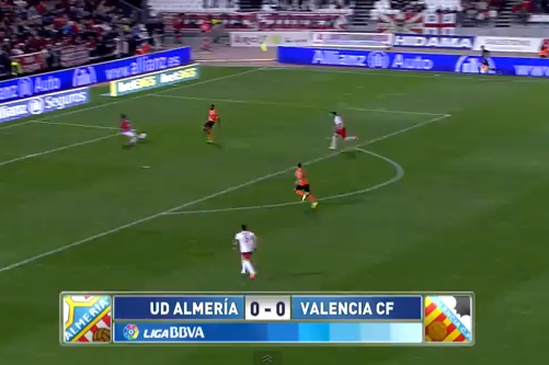 GIF: Seydou Keita Scores for Valencia in 7.6 Seconds Against Almeria