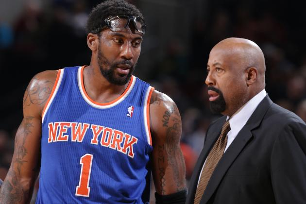 Mike Woodson Lauds Amar'e Stoudemire: 'A Lot of Players Would Have Quit'