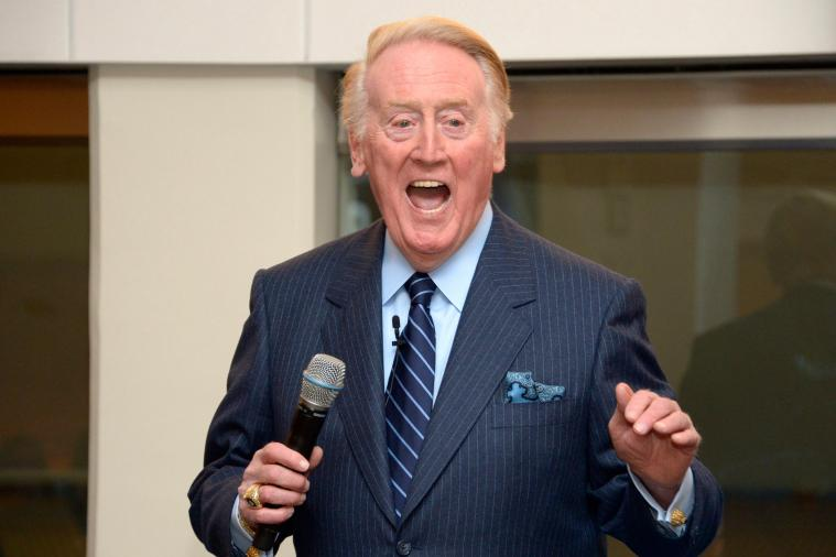 Vin Scully Announces Through LA Earthquake Tremors During Angels-Dodgers Game