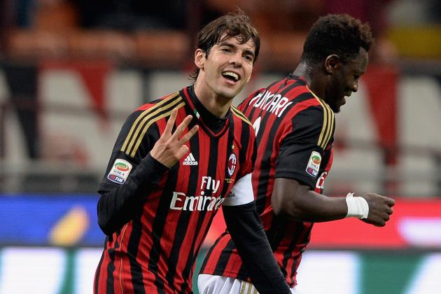 Kaka Scores Twice for AC Milan on 300th Appearance vs. Chievo in Serie A