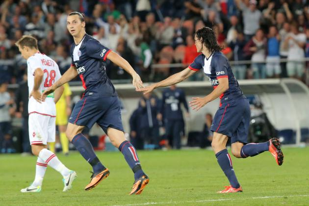 Ibrahimovic and Cavani Watch: Pair Combine to Secure Nice Win for PSG