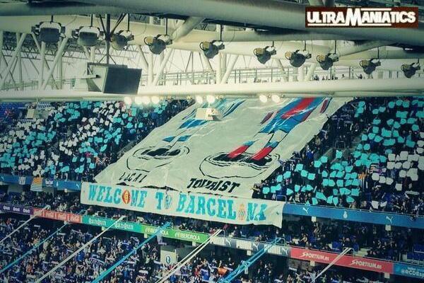 Espanyol Fans Unveil Anti-FC Barcelona Banner