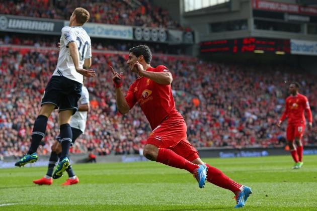 Twitter Reacts to Luis Suarez's Performance from Liverpool vs. Tottenham