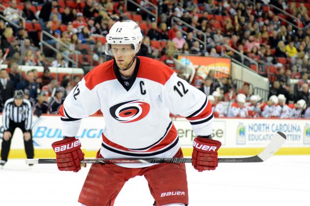 Eric Staal's Future with Carolina Hurricanes Growing Shakier as Slump Continues