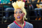Rodman Plays Basketball in Drag