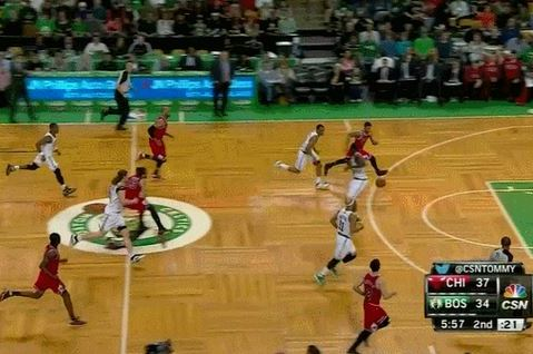 Bulls' Joakim Noah Splits Celtics Defense with Beautiful Bounce Pass