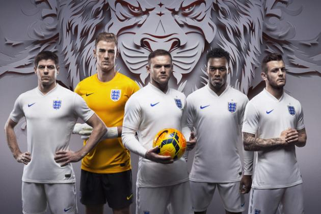 England Reveal New Home and Away Kits Made by Nike for World Cup 2014