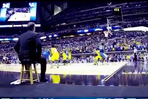 Bench View of Harrison's Game-Winner
