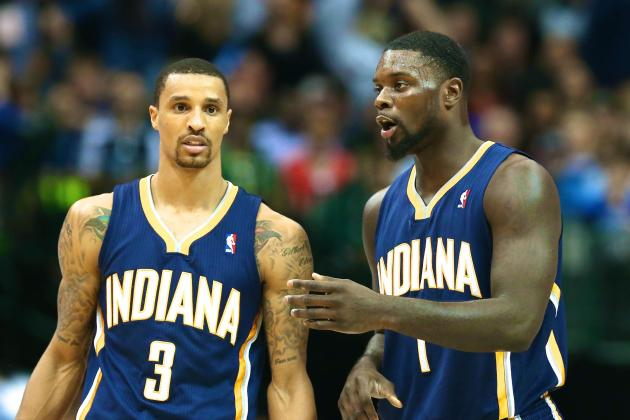 Lance Stephenson, George Hill Reportedly Had to Be Separated in Loss vs. Spurs