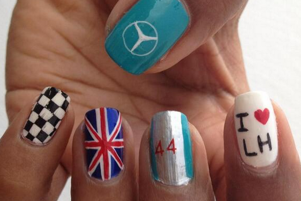 Lewis Hamilton's Win for Mercedes at 2014 Malaysian Grand Prix Inspires Nail Art