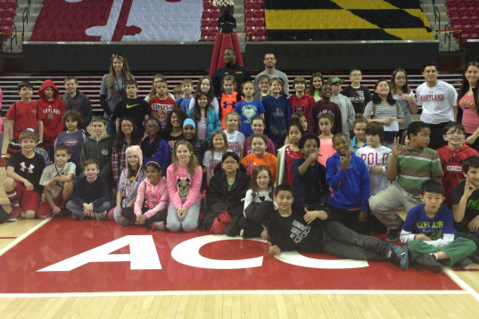Terps Host Students from Crofton Elem. School