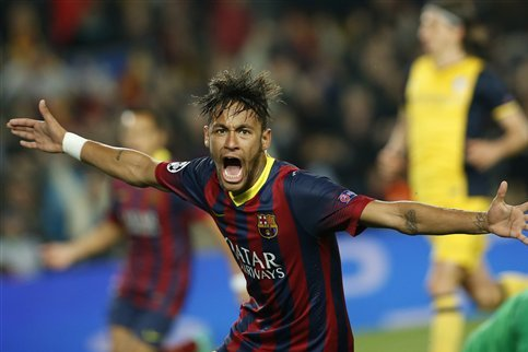 GIF: Neymar Equalises for Barcelona in 1-1 Draw Against Atletico Madrid