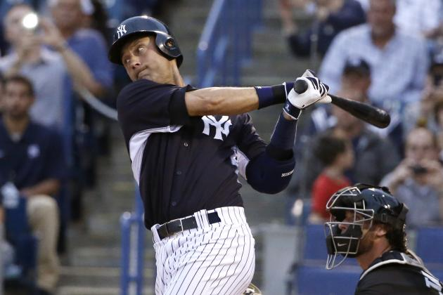 Derek Jeter Got Drilled by a Fastball in His First at-Bat of 2014