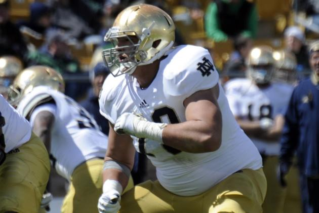 Elmer Settling into Own Spot on Notre Dame's Offensive Line