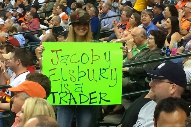 Red Sox Fan's Spelling Errors Overshadow Her Dig at Yankees' Jacoby Ellsbury