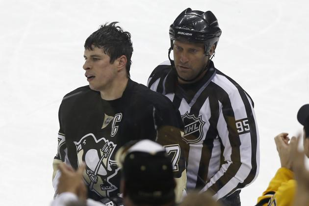 Sidney Crosby Gets Smacked in the Mouth, Takes Stick to Groin Against Hurricanes