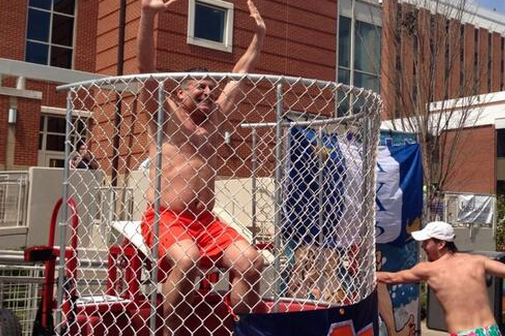 Auburn's Bruce Pearl Gets Dropped into Dunk Tank, Looks Absolutely Thrilled