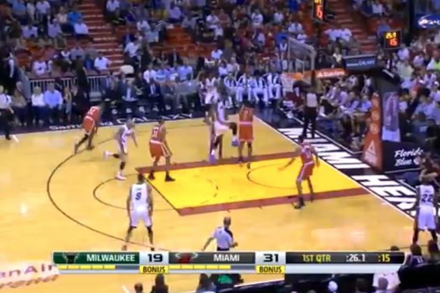 LeBron James Throws Down 2 Huge Dunks in 1st Half Against Milwaukee Bucks