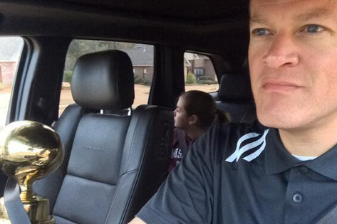 "Mississippi St. AD Trolls Ole Miss with Egg Bowl ""Morning Commute"" Photo"
