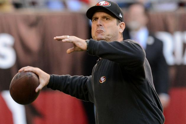 To Size Up Players, 49ers Coach Jim Harbaugh Plays an 'Intense'