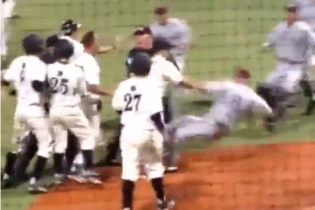Central Arkansas and Arkansas-Little Rock Engage in Wild, Bench-Clearing Brawl